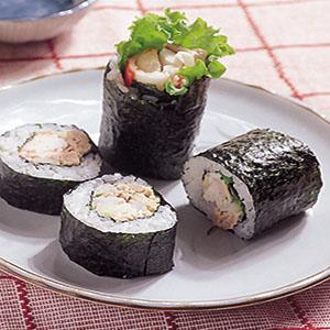 鮪魚蟹肉沙拉卷