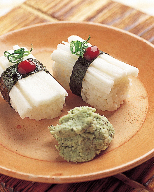食譜:山藥絲握壽司
