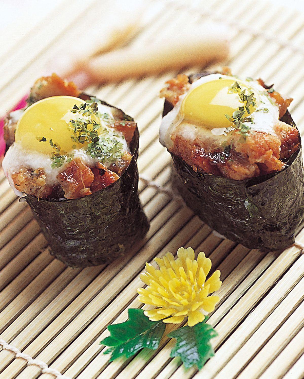 食譜:月見鰻魚軍艦壽司