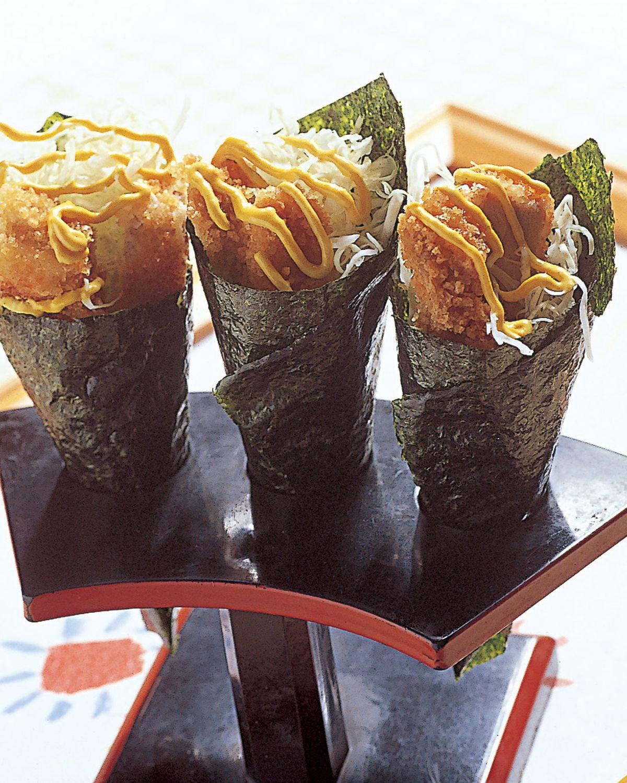 食譜:日式炸豬排手卷