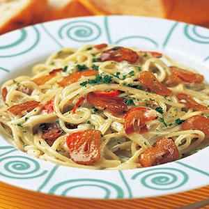 大蒜奶油義大利麵