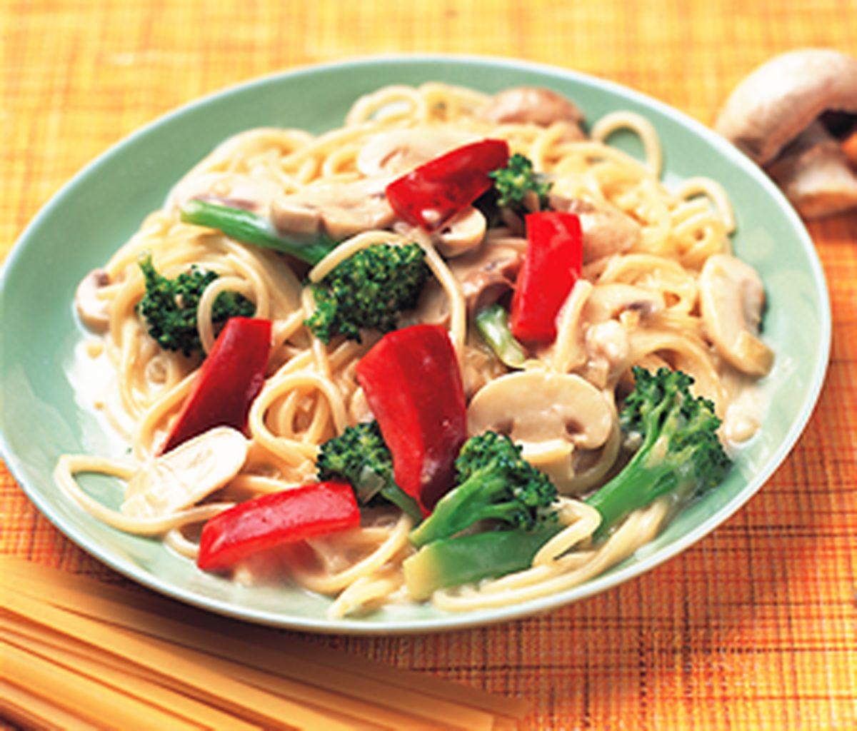 食譜:蔬菜奶油義大利麵