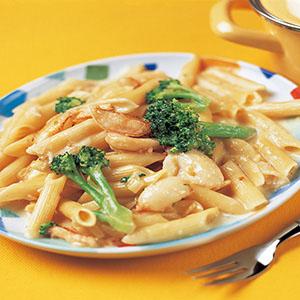 蟹肉奶油義大利麵