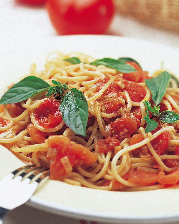 食譜:原味蕃茄醬義大利麵