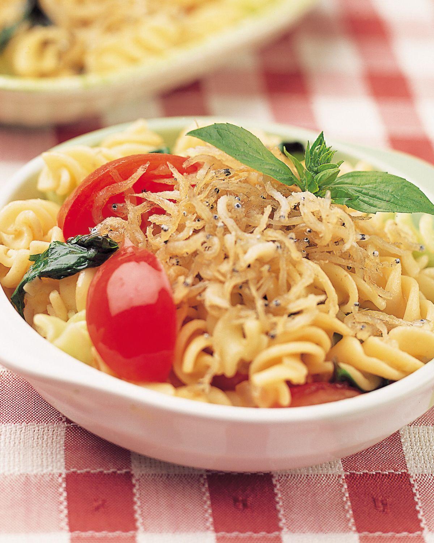 食譜:吻仔魚蕃茄義大利麵