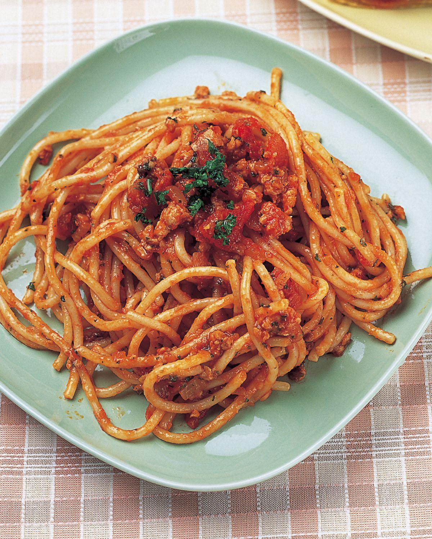 食譜:蕃茄雞肉醬義大利麵