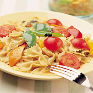 蔬菜清醬義大利麵