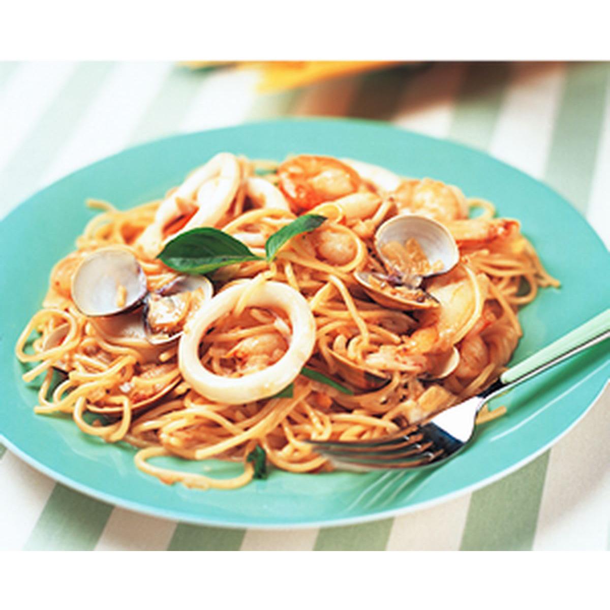 食譜:海鮮清醬義大利麵
