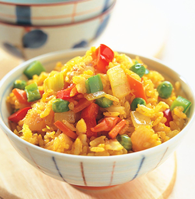 食譜:咖哩海鮮炒飯