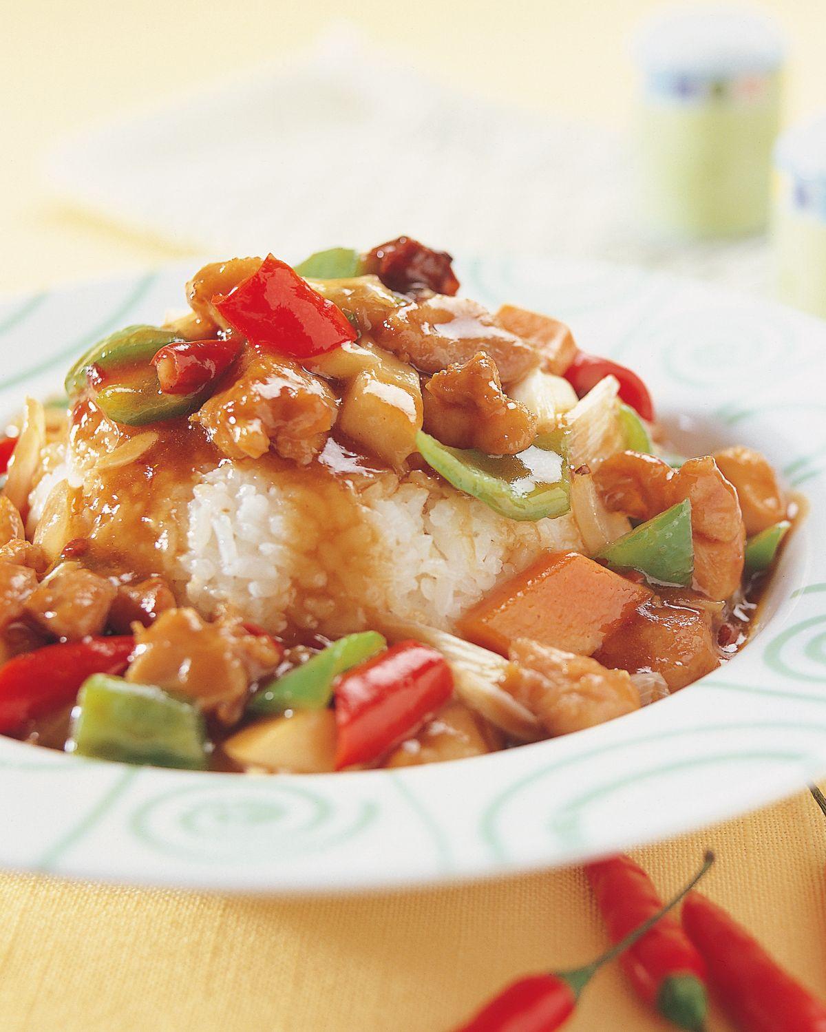 食譜:宮保雞丁燴飯