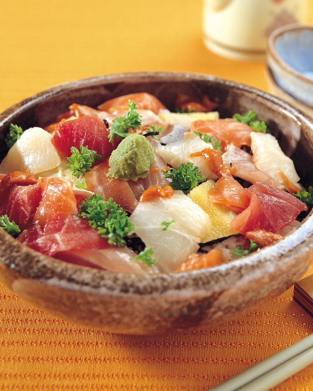 食譜:什錦海鮮丼