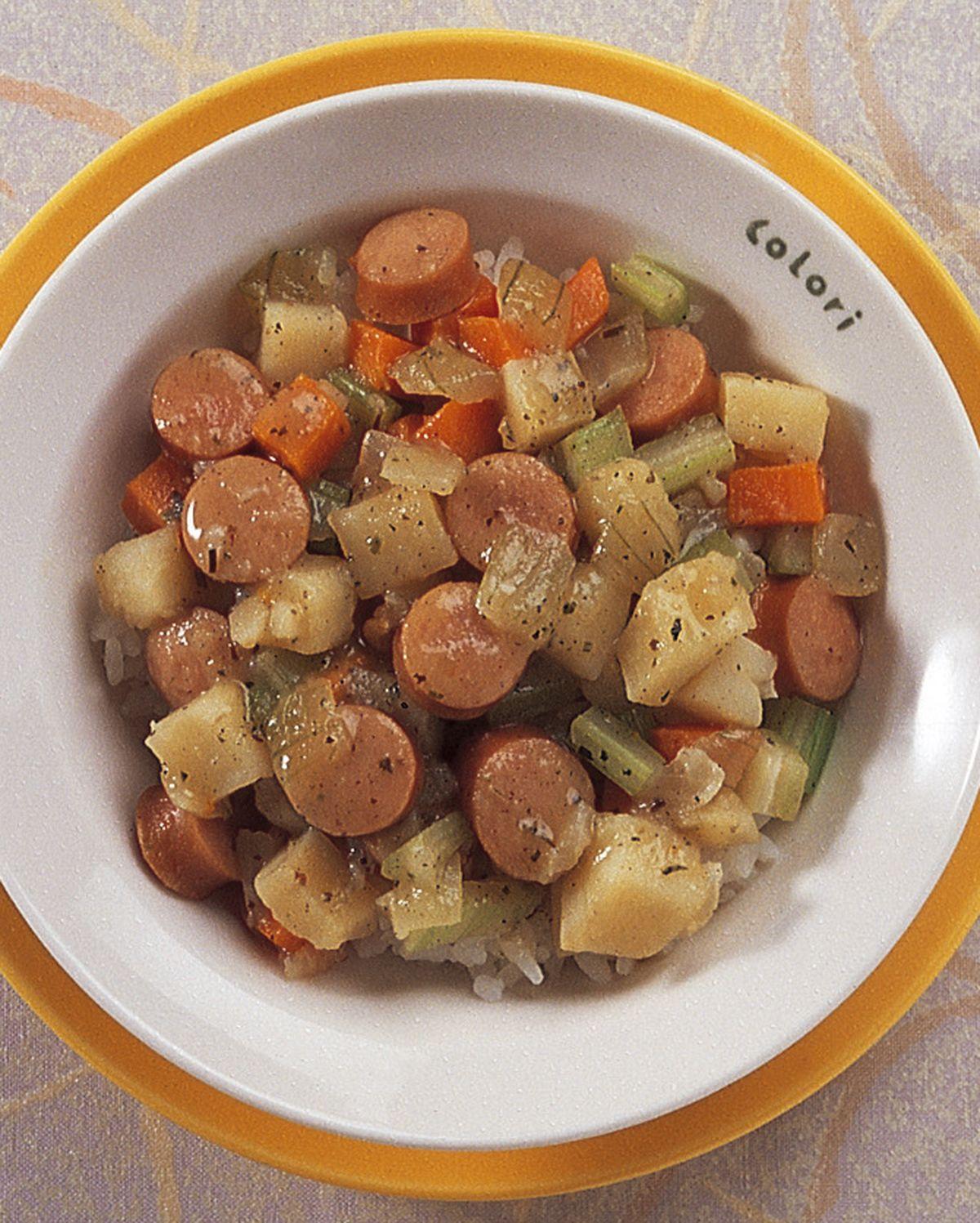 食譜:野菜熱狗飯