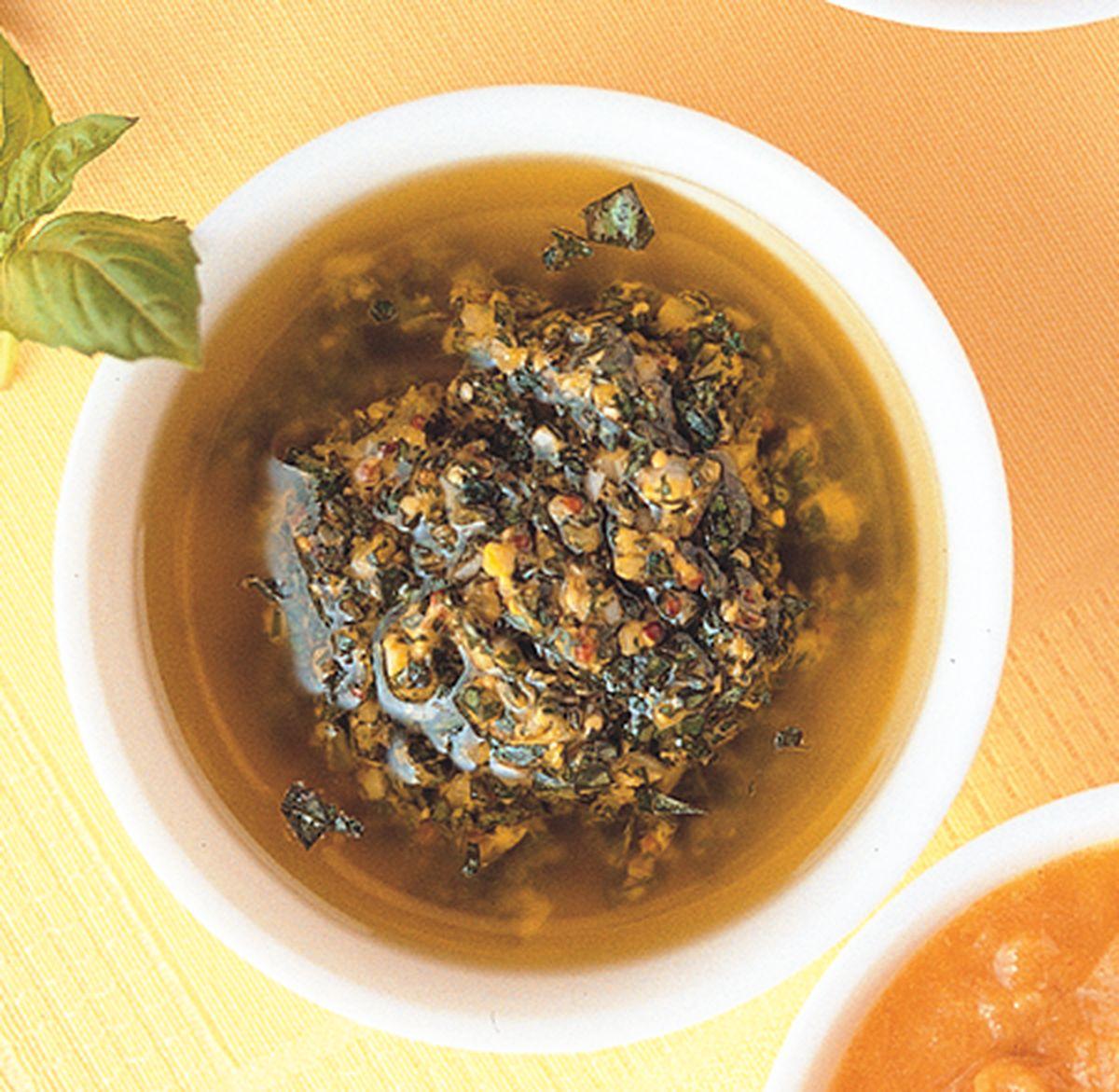食譜:羅勒鯷魚醬