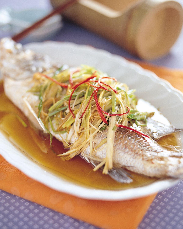 食譜:清蒸鱸魚