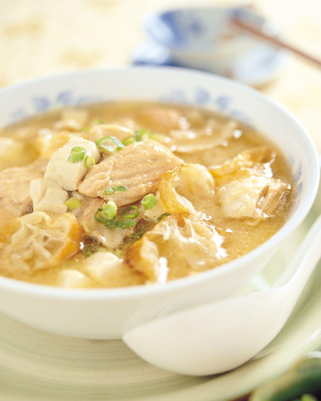 食譜:鮭魚味噌湯(2)