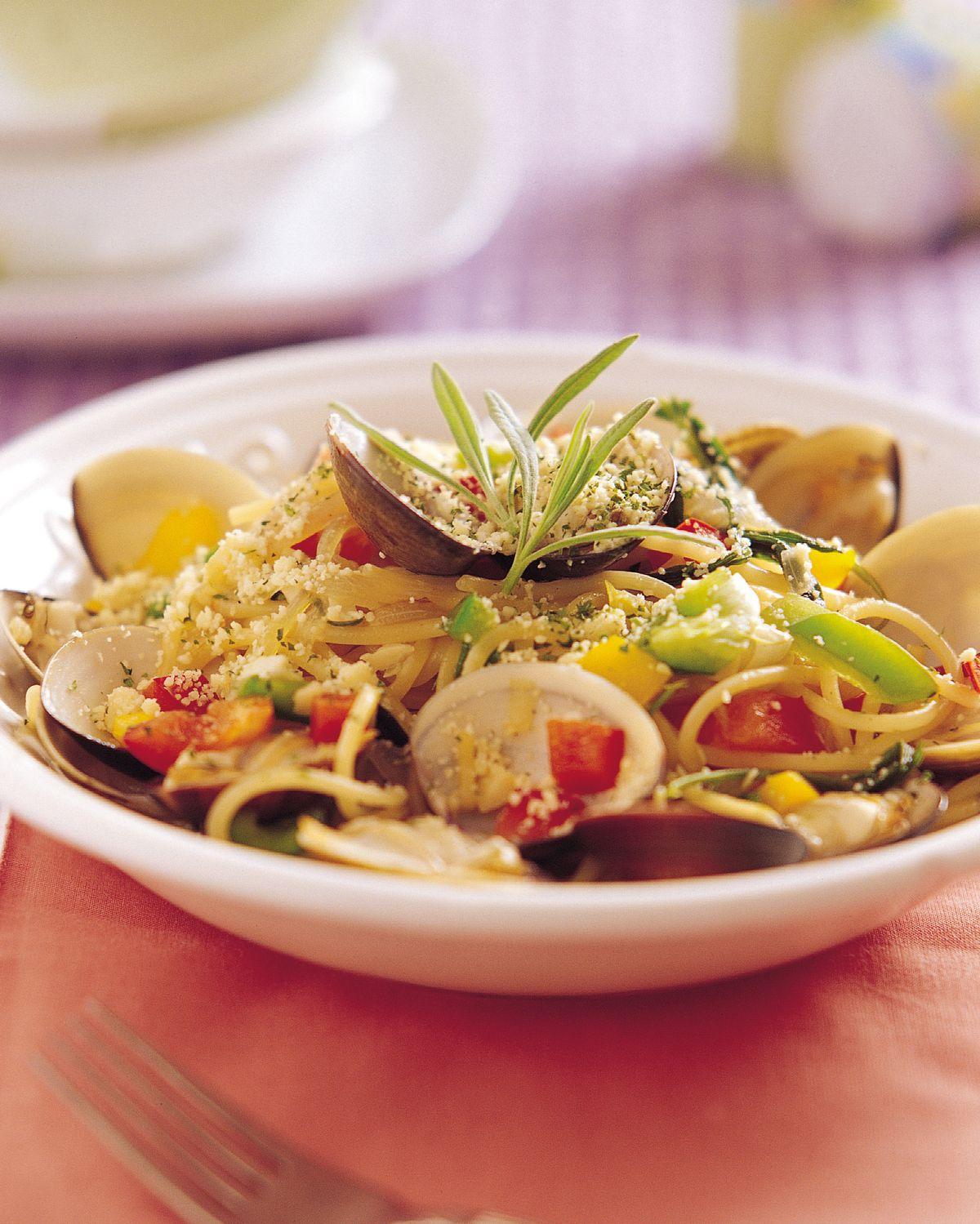 食譜:薰衣草蛤蜊麵