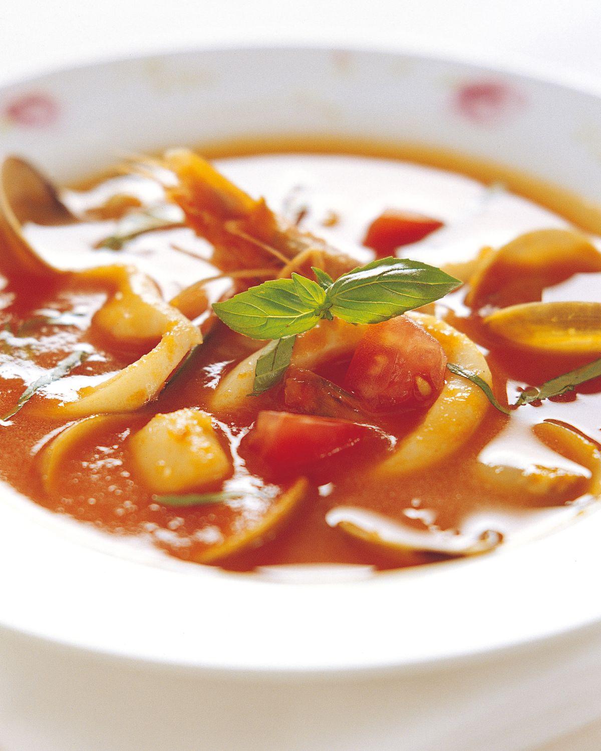 食譜:羅勒海鮮湯