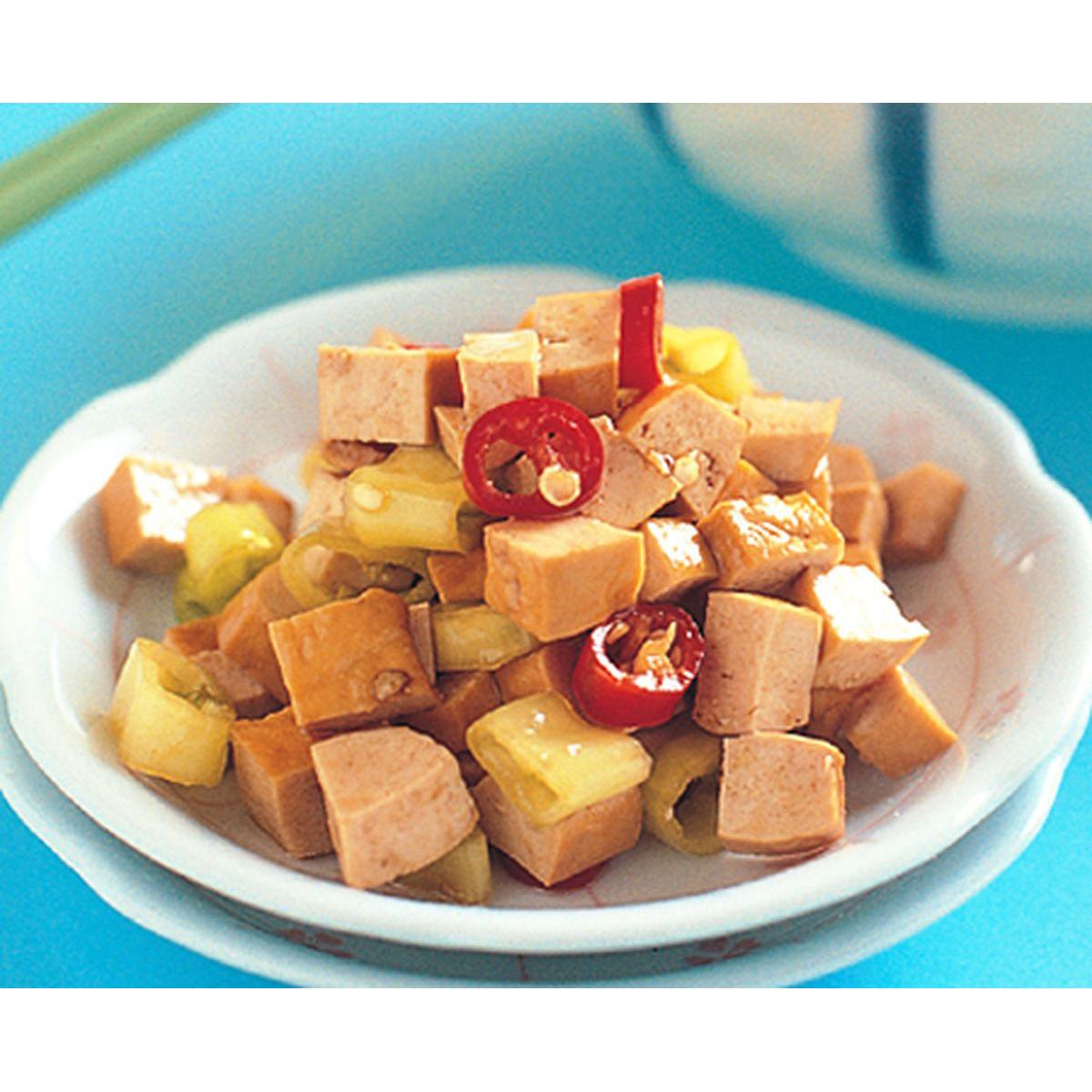 食譜:角椒拌豆丁