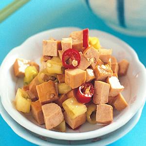 角椒拌豆丁