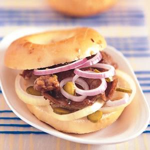 照燒牛肉貝果三明治