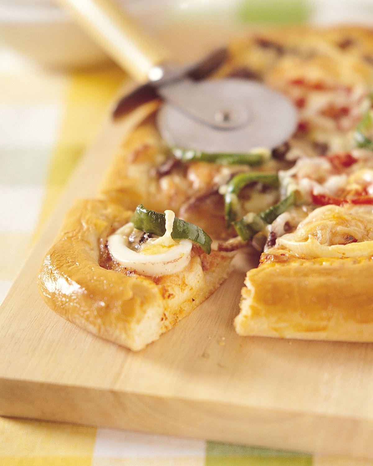 食譜:海陸方形披薩