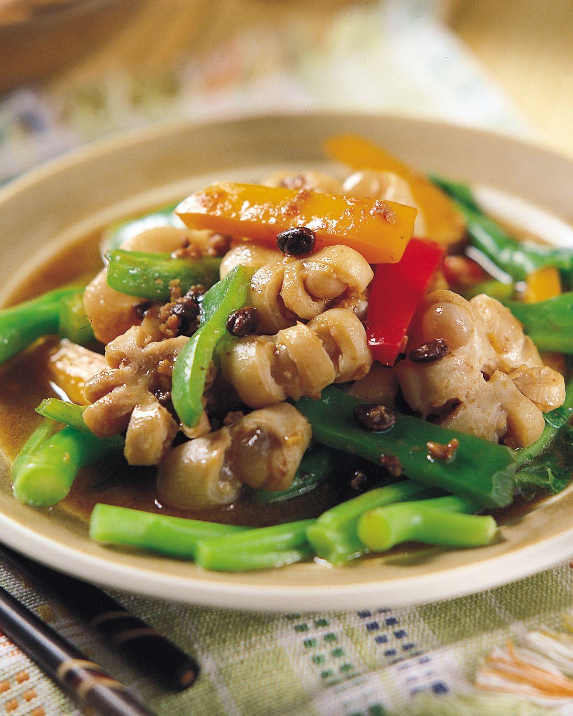 食譜:豆鼓炒生腸