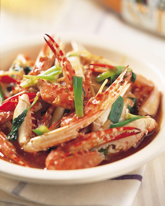 食譜:辣油炒蟹腳