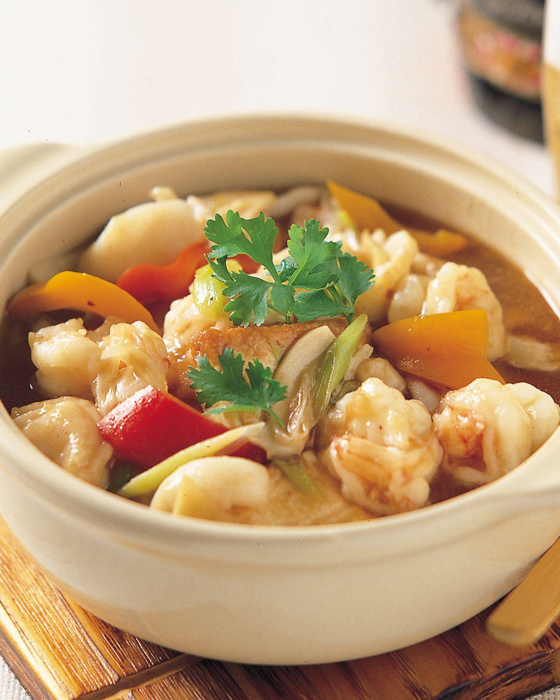 食譜:海鮮豆腐煲
