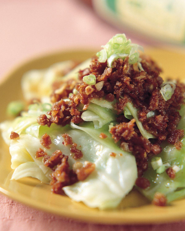 食譜:豆酥高麗菜