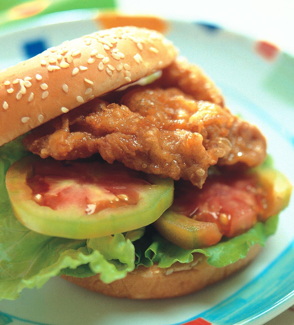 食譜:蜜汁雞腿堡