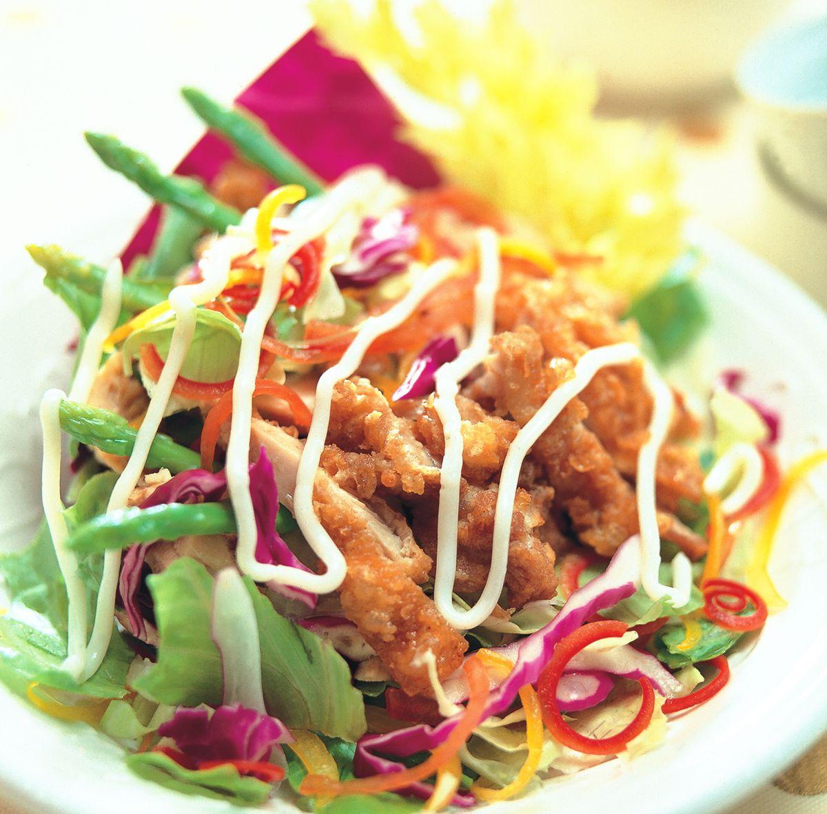 食譜:炸雞沙拉