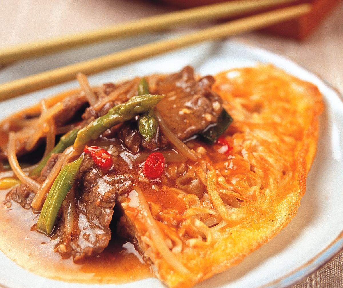 食譜:沙茶牛肉兩面黃