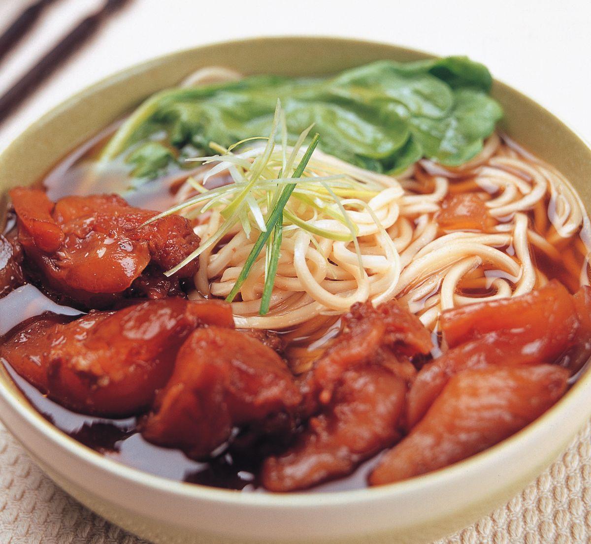 食譜:桂侯蹄筋麵