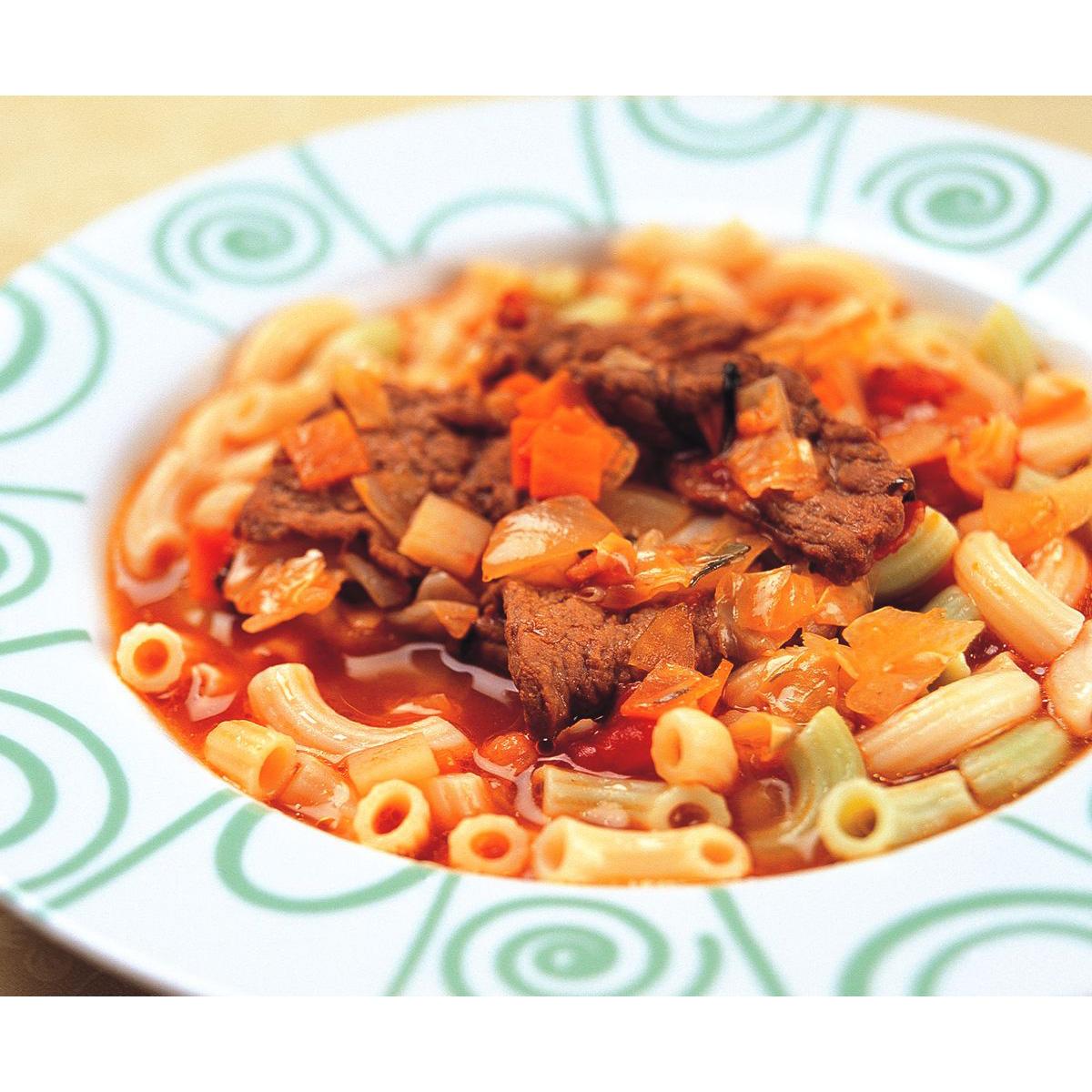 食譜:義式蔬菜牛肉湯麵