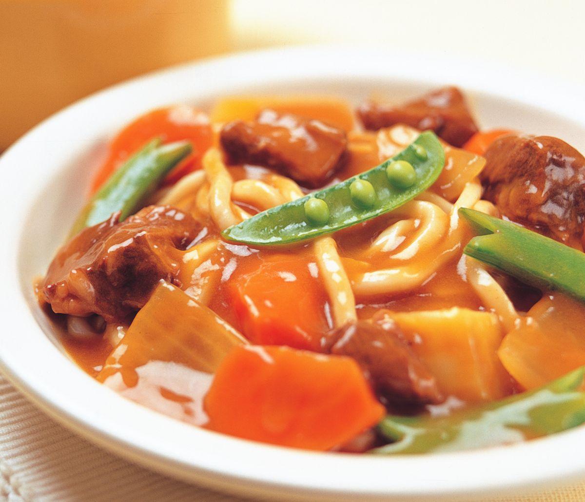 食譜:咖哩牛腩烏龍麵