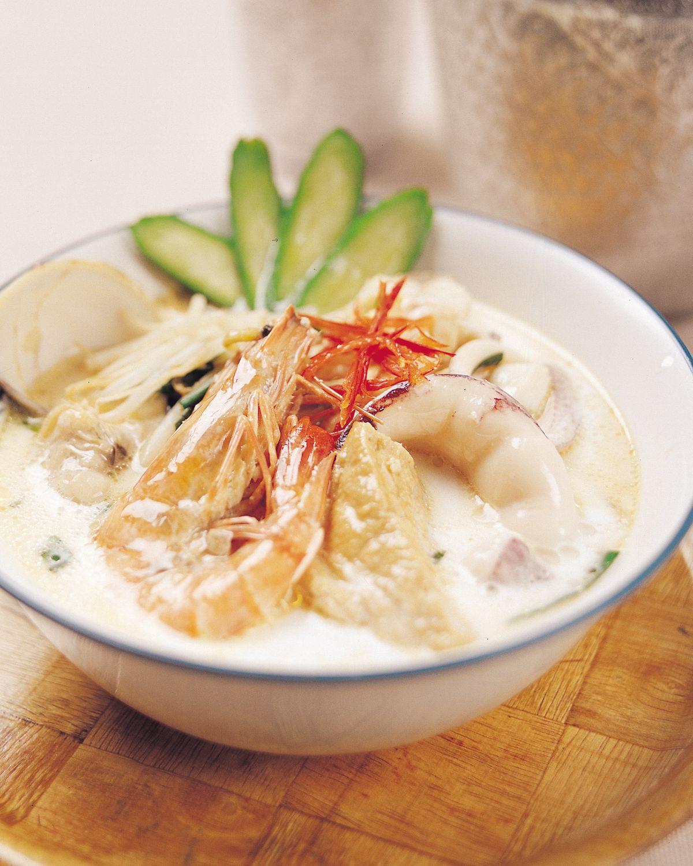 食譜:香辣椰汁海鮮湯麵
