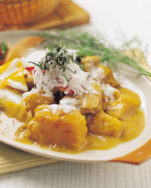 食譜:南瓜豬肉咖哩