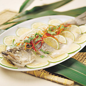 檸檬青蒸魚
