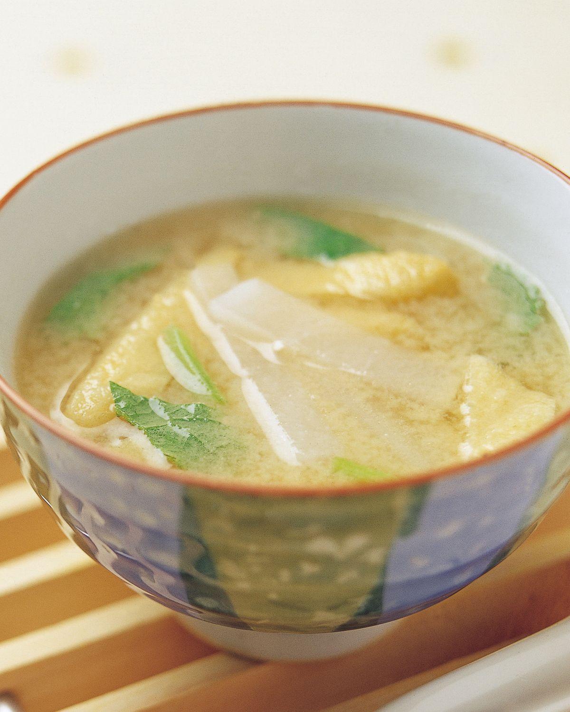 食譜:薄揚蘿蔔味噌湯