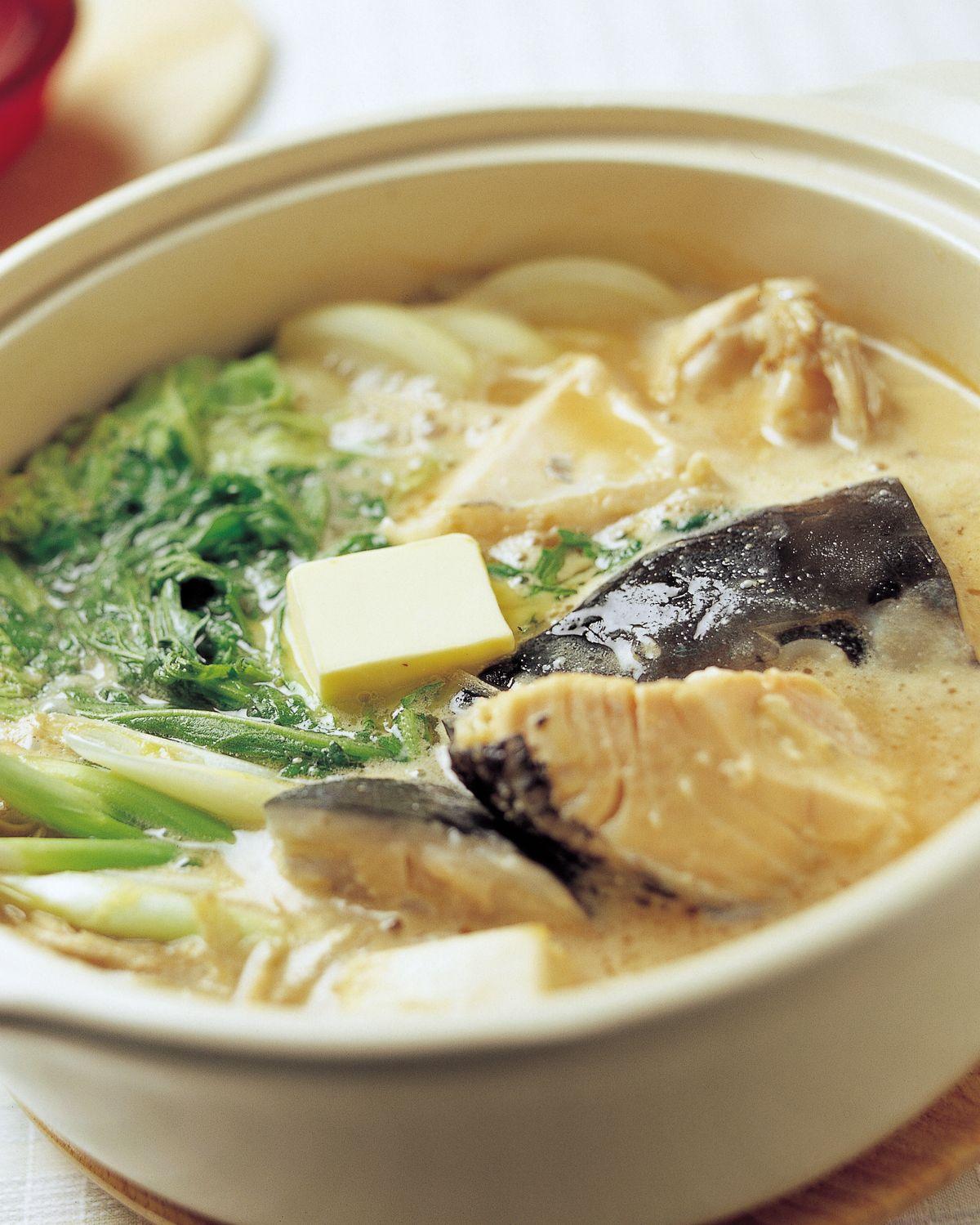 食譜:石狩鍋•雜炊