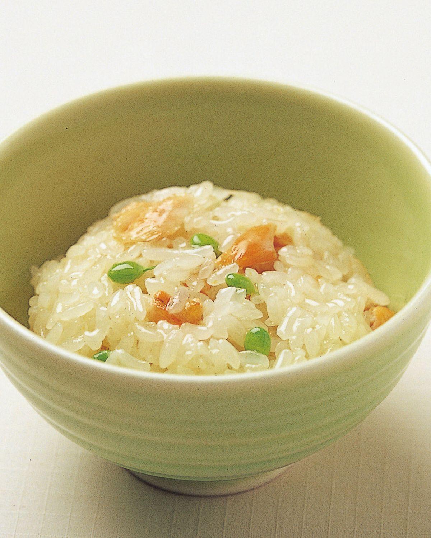食譜:鮭魚蒸飯