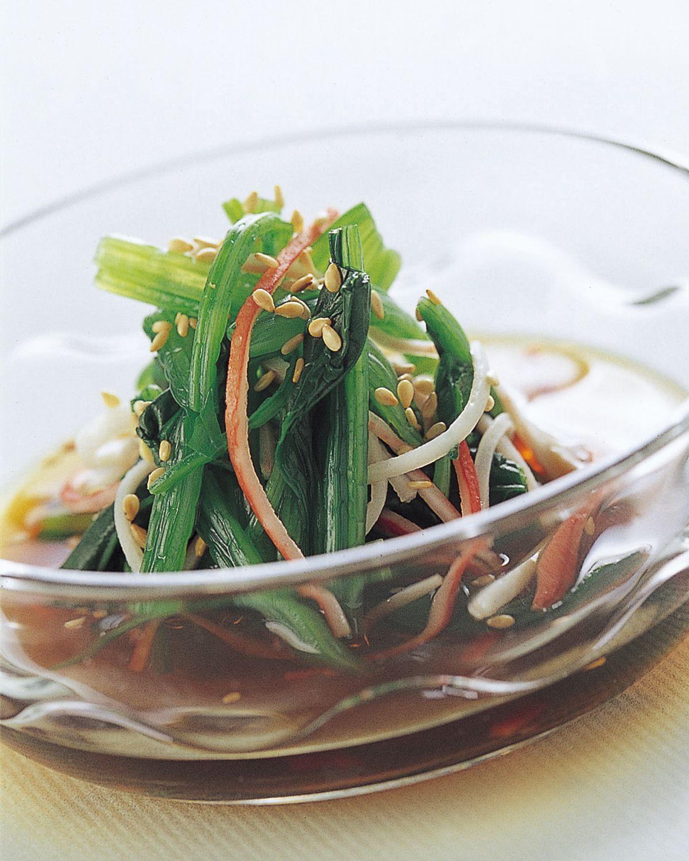 食譜:冷拌蟹肉菠菜