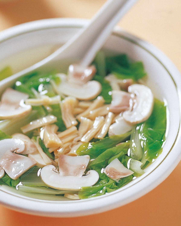 食譜:蘑菇干貝湯