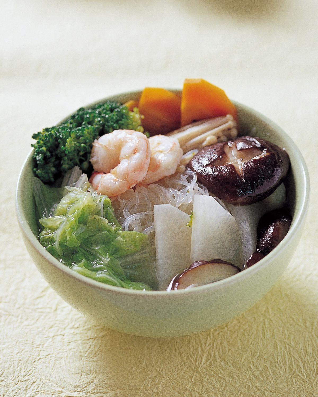 食譜:蒟蒻鮮蝦蔬菜湯