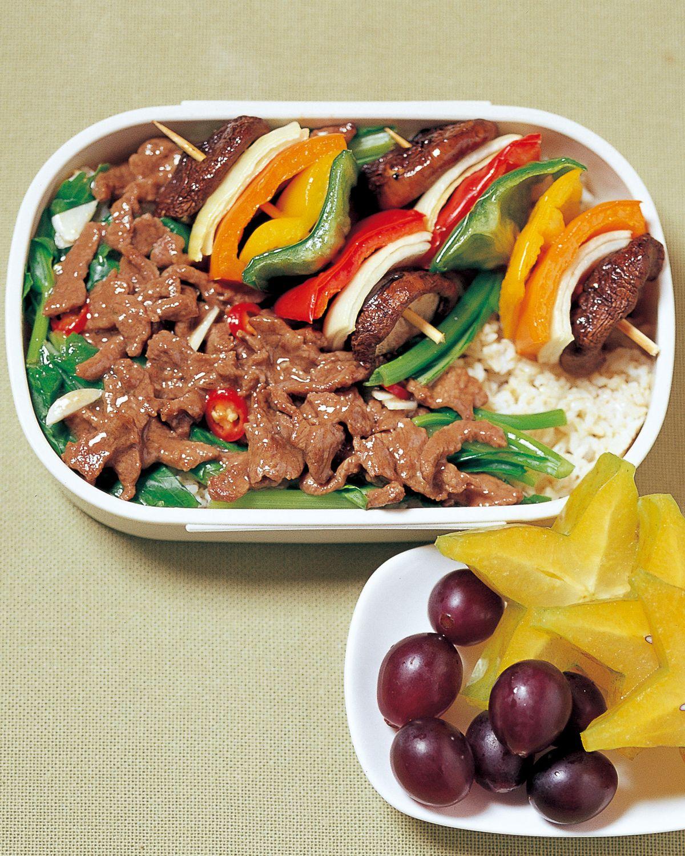 食譜:油菜牛柳蓋飯