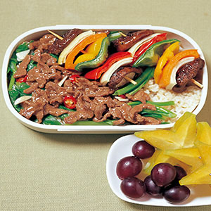 油菜牛柳蓋飯
