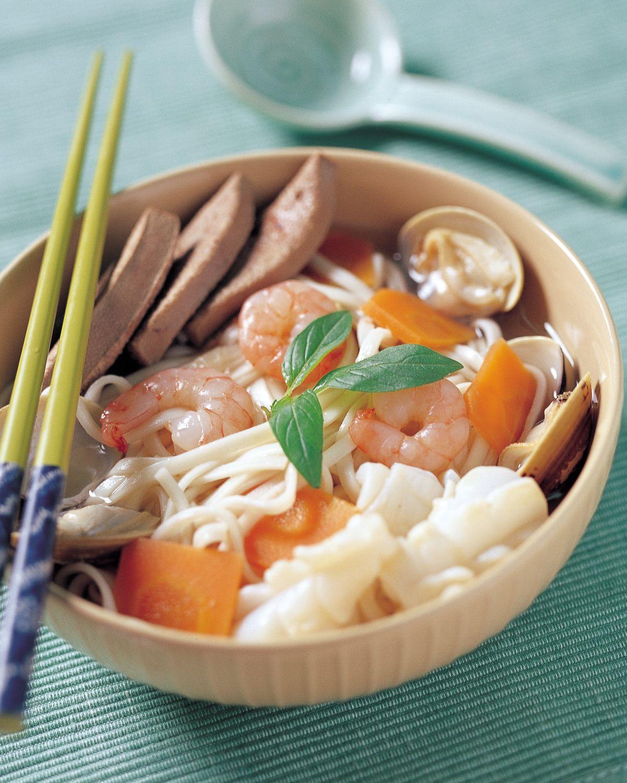 食譜:三鮮豬肝麵