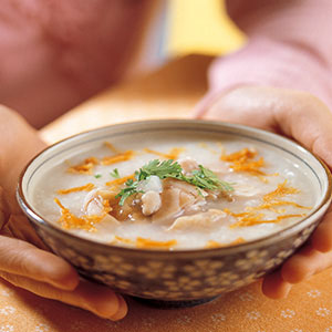 干貝田雞粥