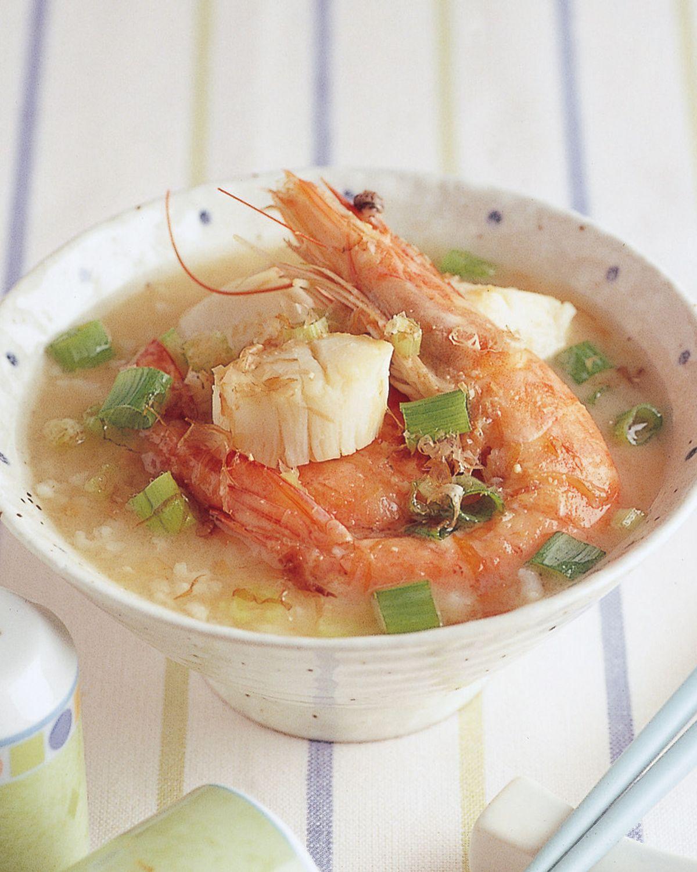 食譜:味噌蝦球帶子粥
