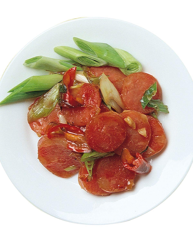 食譜:蒜炒香腸(1)